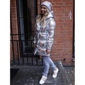 Фото КУРТКИ, ПАЛЬТО, ПАРКИ ЖЕНСКИЕ Модная куртка серебро 505