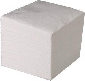 Салфетки бумажные белые, 100% целлюлоза. 100 шт/уп