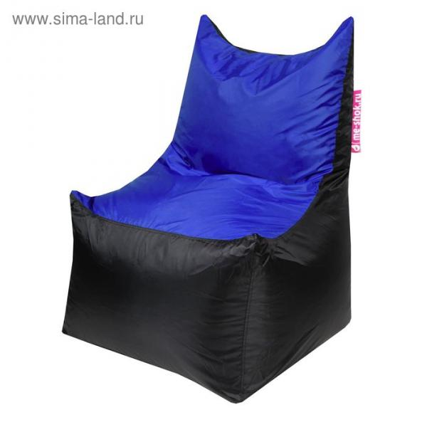 """Кресло-мешок """"Трон"""", ширина 70 см, глубина 70 см, высота 110 см, цвет синий"""