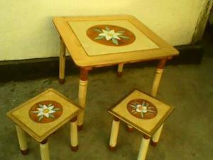 Фото  Детский столовый комплект мебели