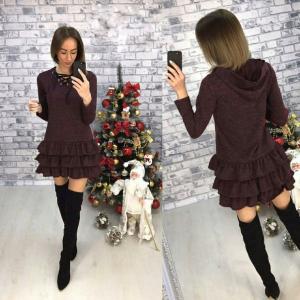 Фото ПЛАТЬЯ Платье с капюшоном 523