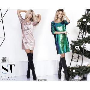 Фото ПЛАТЬЯ Платье с двухсторонней пайеткой 3651