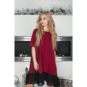 Фото ПЛАТЬЯ Платье с шифоновой отделкой 150