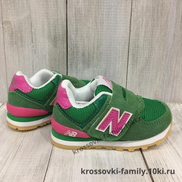 Фото Детские кроссовки Детские New Balance зеленые