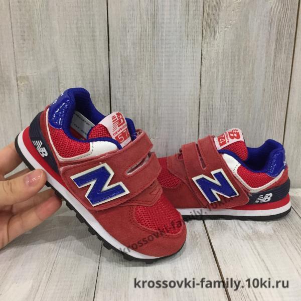 Фото Детские кроссовки Детские New Balance красные