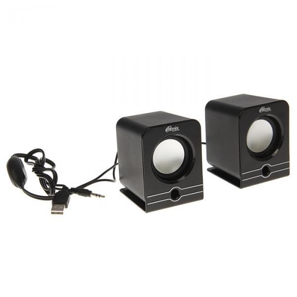 Акустическая система 2.0 RITMIX SP-2040 Black, 2х2.5Вт, USB, черные