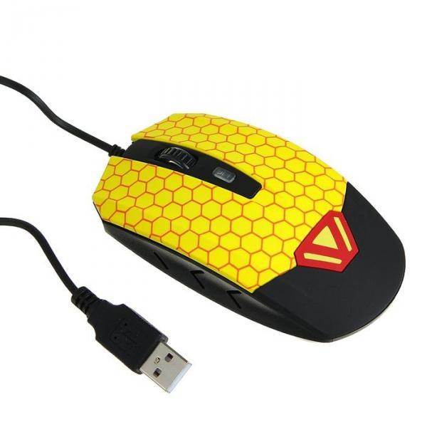 Мышь игровая CBR CM833 Beeman, оптическая, встроенное вибро, 3200 dpi, USB
