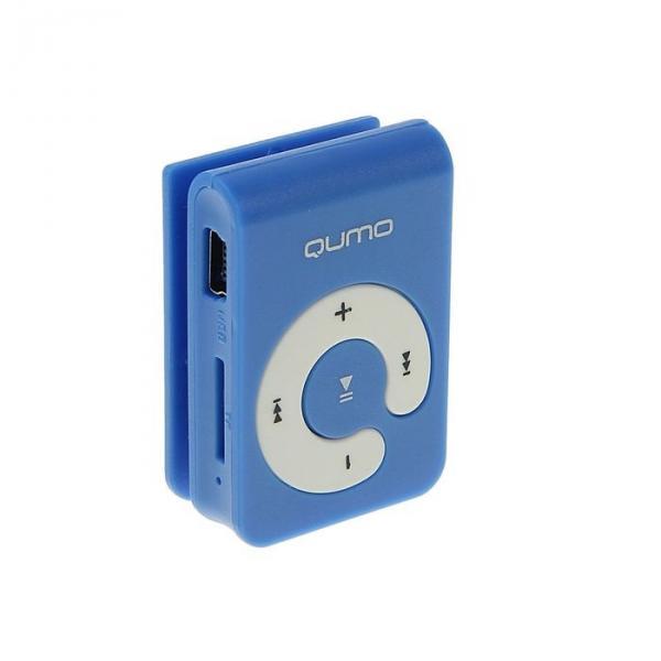MP3 плеер Qumo HIT!, Micro SD до 32 ГБ, голубой