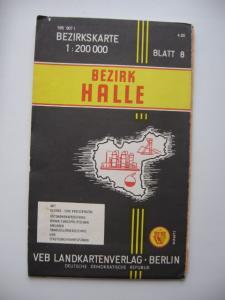 Фото Карты городов МИРА HALLE ГДР план города