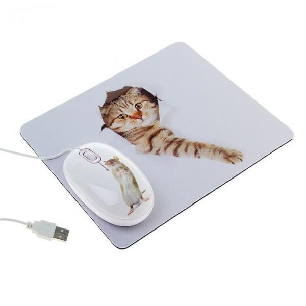 Мышь CBR Capture, оптическая, проводная, 1200 dpi, с ковриком, USB