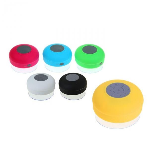 Портативная колонка водостойкая на присоске, Bluetooth, АКБ, МИКС