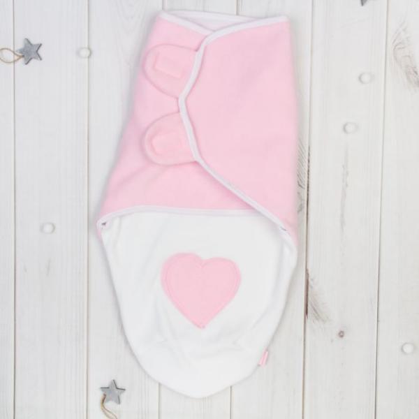 """Пеленка-трансформер """"Кокон"""", размер 22х52 см, цвет розовый ПеТ-2/С"""