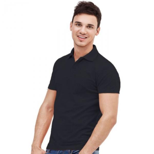 Рубашка-поло мужская StanUniform, размер 48, цвет чёрный 185 г/м 04U