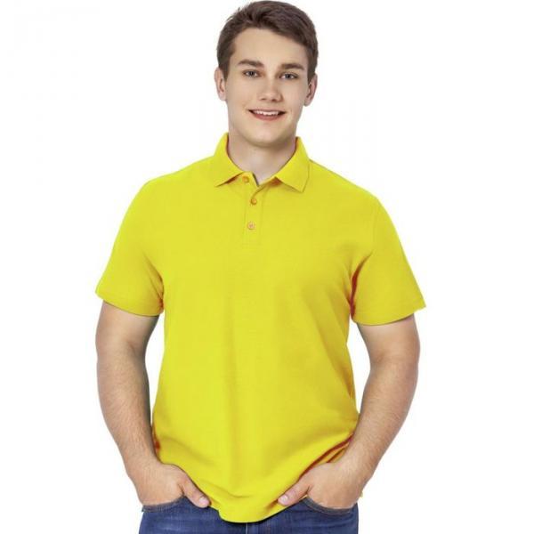Рубашка-поло мужская StanPremier, размер 48, цвет жёлтый 185 г/м 04