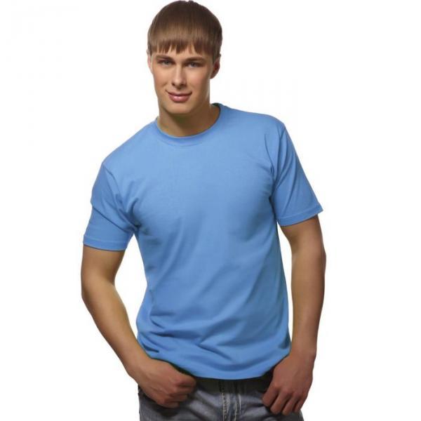 Футболка мужская StanGalant, размер 52, цвет голубой 150 г/м 02