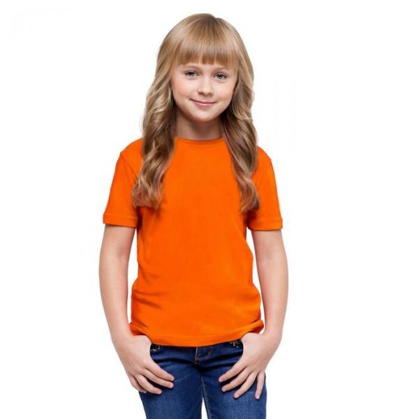 Футболка детская StanClass, рост 128 см, цвет оранжевый 140 г/м 06U