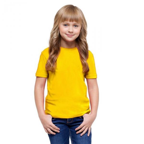 Футболка детская StanClass, рост 128 см, цвет жёлтый 140 г/м 06U