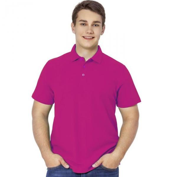 Рубашка-поло мужская StanPremier, размер 46, цвет маджента 185 г/м 04
