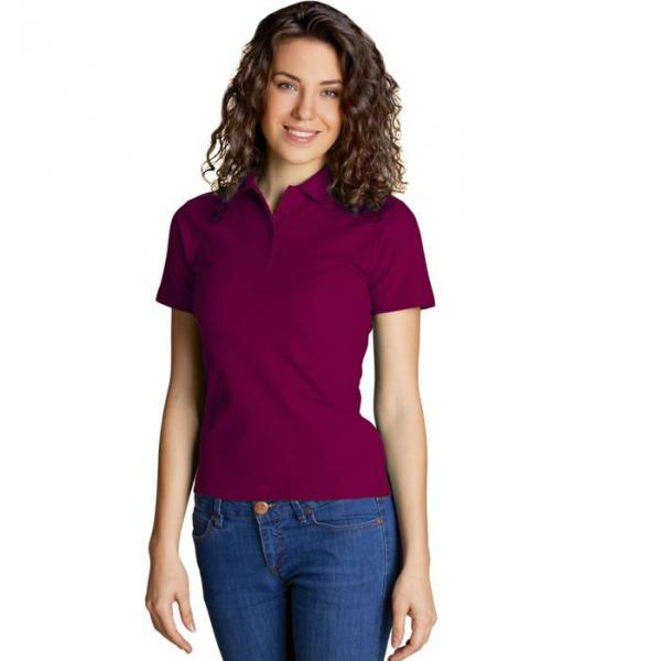 Рубашка-поло женская StanWomen,  размер 50, цвет винный 185 г/м 04WL