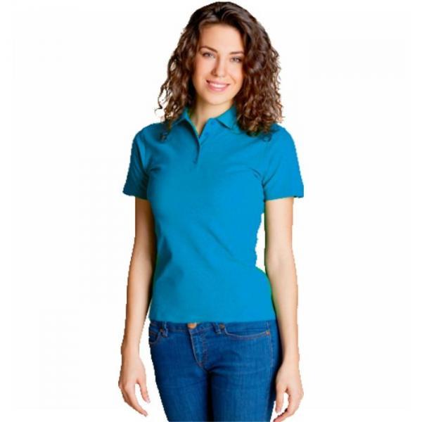 Рубашка-поло женская StanWomen,  размер 52, цвет лазурный 185 г/м 04WL