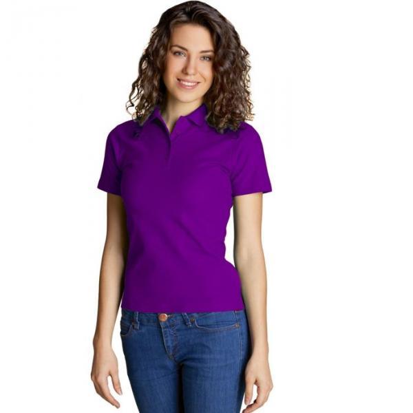 Рубашка-поло женская StanWomen,  размер 42, цвет фиолетовый 185 г/м 04WL
