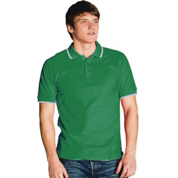 Рубашка-поло мужская StanTrophy, размер 48, цвет зелёный 185 г/м 04T