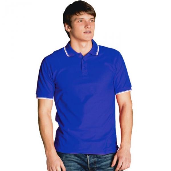 Рубашка-поло мужская StanTrophy, размер 48, цвет синий 185 г/м 04T