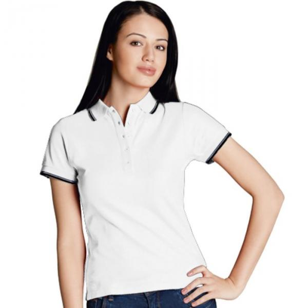 Рубашка-поло женская StanBeauty, размер 52, цвет белый 185 г/м 04BK