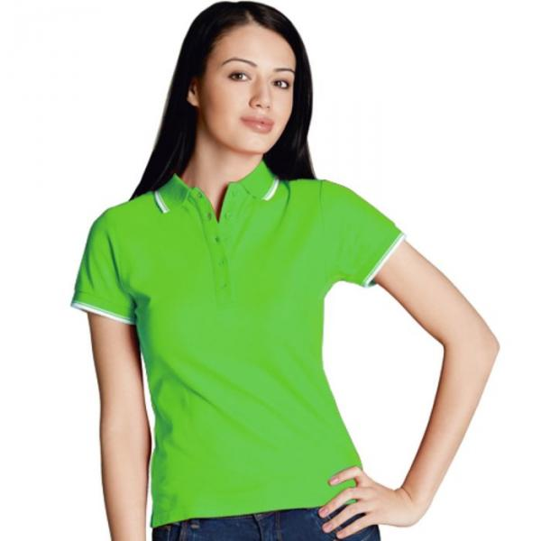 Рубашка-поло женская StanBeauty, размер 42, цвет ярко-зелёный 185 г/м 04BK