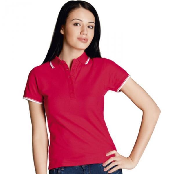 Рубашка-поло женская StanBeauty, размер 46, цвет красный 185 г/м 04BK