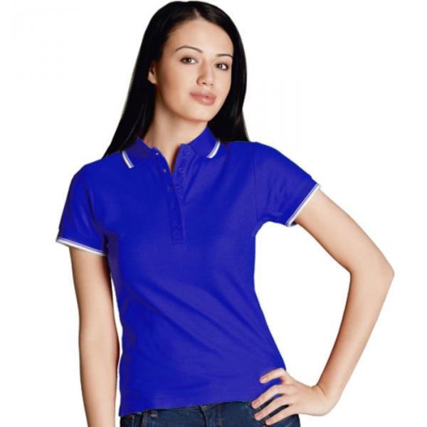 Рубашка-поло женская StanBeauty, размер 52, цвет синий 185 г/м 04BK