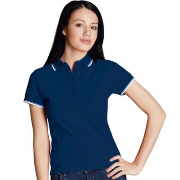 Рубашка-поло женская StanBeauty, размер 44, цвет тёмно-синий 185 г/м 04BK