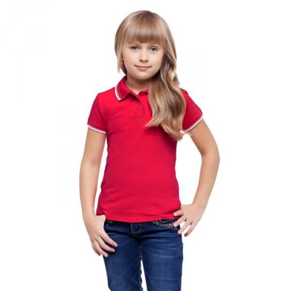 Рубашка-поло детская StanTrophy Junior, 6 лет, цвет красный 185 г/м 04TJ