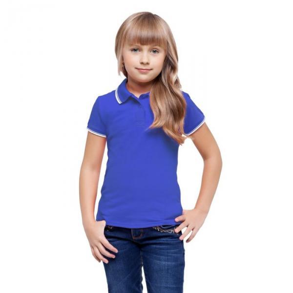 Рубашка-поло детская StanTrophy Junior, 10 лет, цвет синий 185 г/м 04TJ
