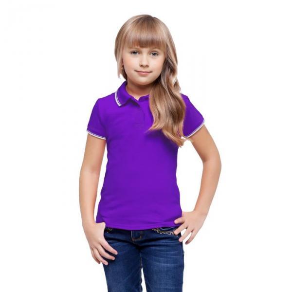 Рубашка-поло детская StanTrophy Junior, 14 лет, цвет фиолетовый 185 г/м 04TJ
