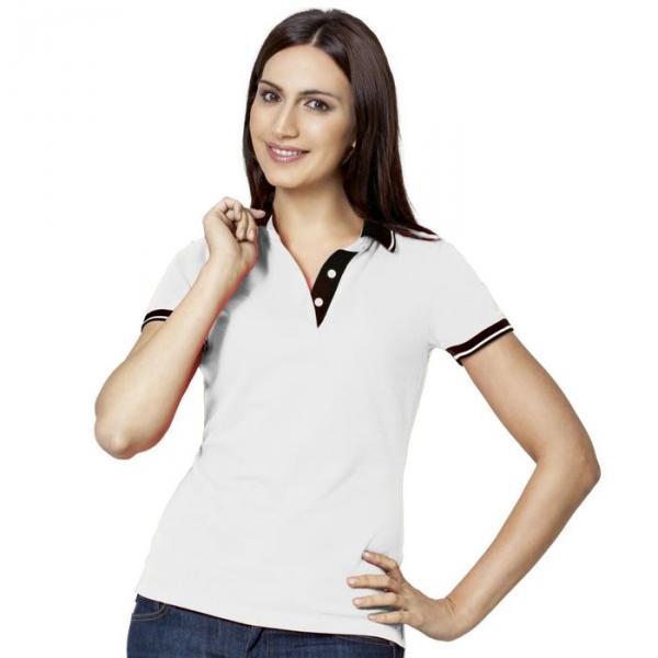 Рубашка-поло женская StanContrast, размер 44, цвет белый 185 м/г 04CW