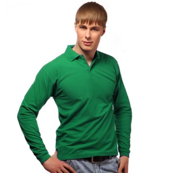 Рубашка-поло мужская StanPolo, размер 44, цвет зелёный 185 г/м 04S