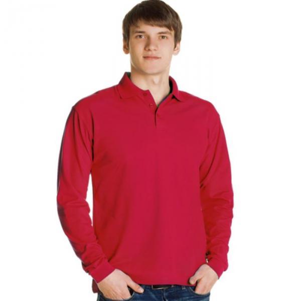 Рубашка-поло мужская StanPolo, размер 48, цвет красный 185 г/м 04S