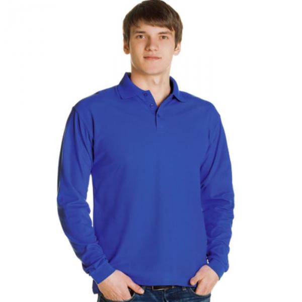 Рубашка-поло мужская StanPolo, размер 46, цвет синий 185 г/м 04S