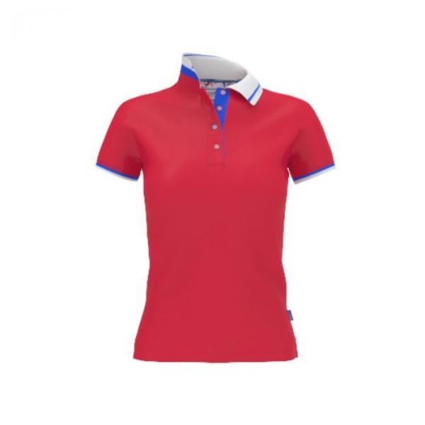 Рубашка-поло женская PiterBest, размер 44, цвет красный 200 г/м 1504W