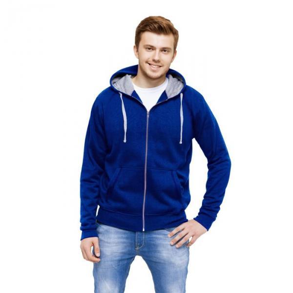 Толстовка мужская StanCool, размер 46, цвет синий 260 г/м 61