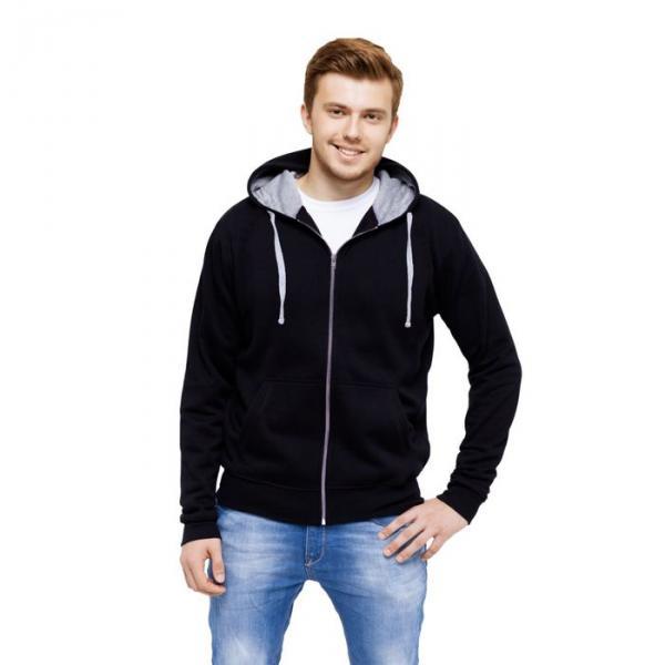 Толстовка мужская StanCool, размер 46, цвет чёрный 260 г/м 61
