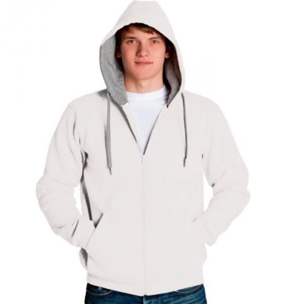 Толстовка мужская StanStyle, размер 50, цвет белый-серый меланж 280 г/м 17
