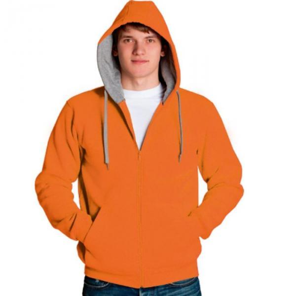 Толстовка мужская StanStyle, размер 52, цвет оранжевый-серый меланж 280 г/м 17