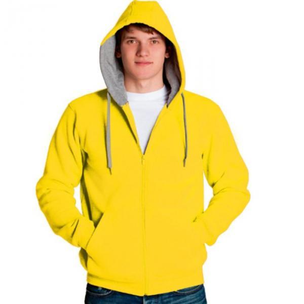 Толстовка мужская StanStyle, размер 56, цвет жёлтый-серый меланж 280 г/м 17