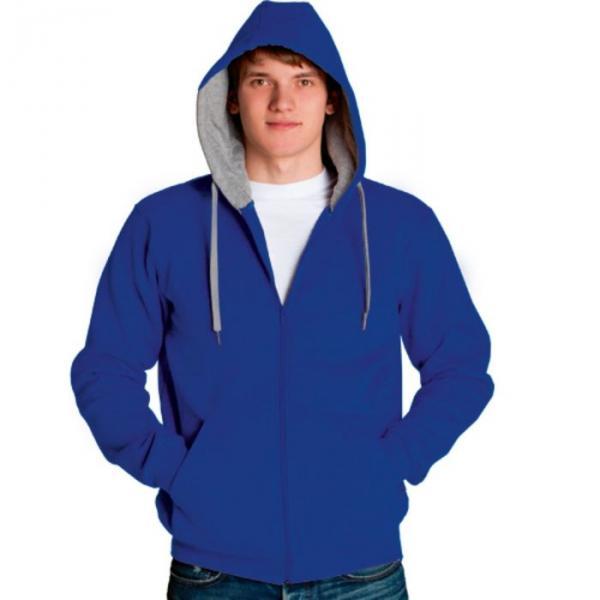 Толстовка мужская StanStyle, размер 48, цвет синий-серый меланж 280 г/м 17