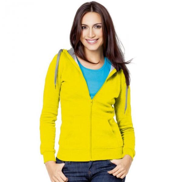 Толстовка женская StanStyle, размер 52, цвет жёлтый-серый меланж 280 г/м 17W