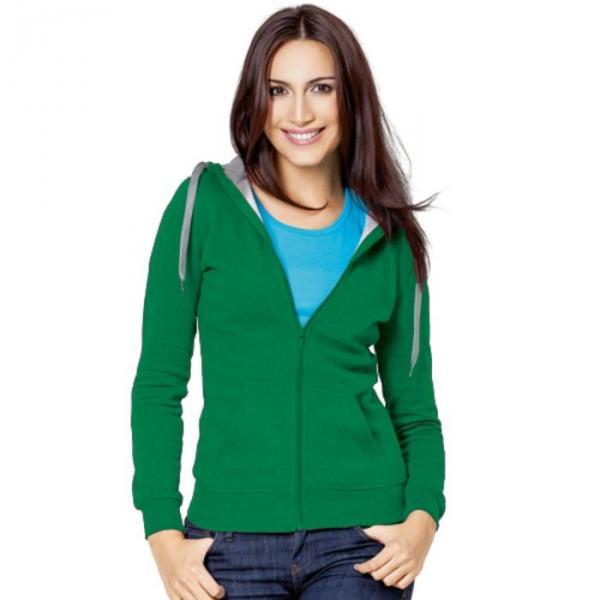 Толстовка женская StanStyle, размер 48, цвет зелёный-серый меланж 280 г/м 17W