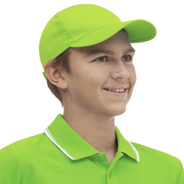 Бейсболка StanClassic Junior, one size, цвет ярко-зелёный 150 г/м 10J