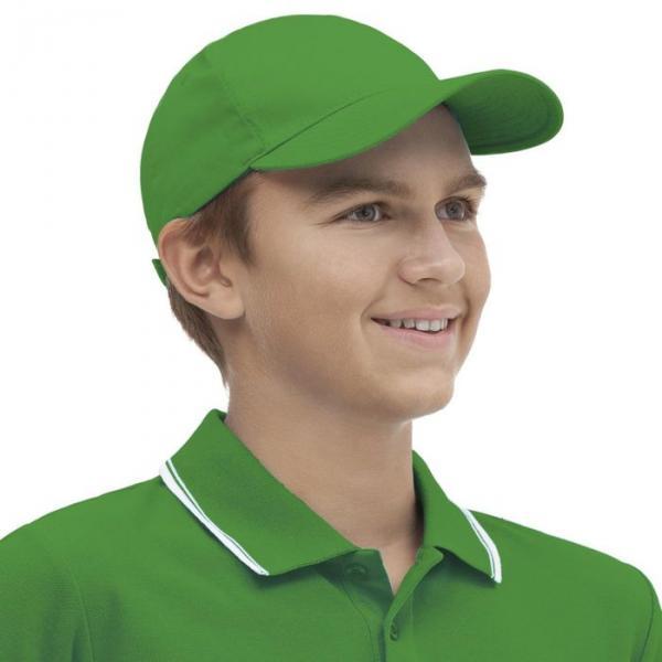 Бейсболка StanClassic Junior, one size, цвет зелёный 150 г/м 10J